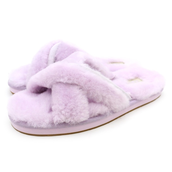 3dd496a66d5 UGG Abela Lavender Fog Purple Sheepskin Slides NEW Boutique